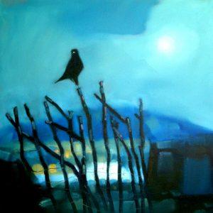 Bird-on-a-Hazel-Gate