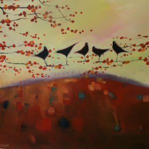Birds-Autumn-Blooms