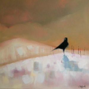 Crow-on-the-Snowy-Hill