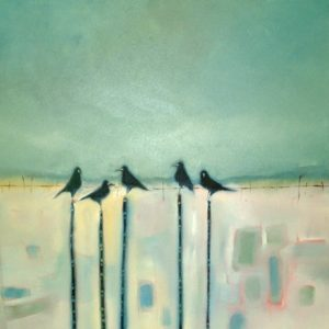 Crows-in-the-Snow