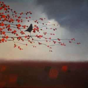 a-bird-amid-blossoms