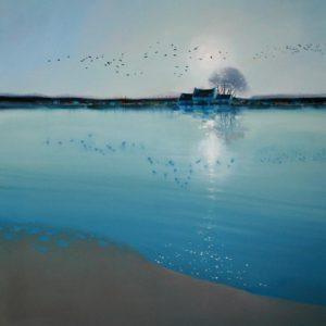Tranquil-Waters-an-Evening-Flight