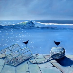 Drifting to the Sound of Waves (60x60cm €1,400)